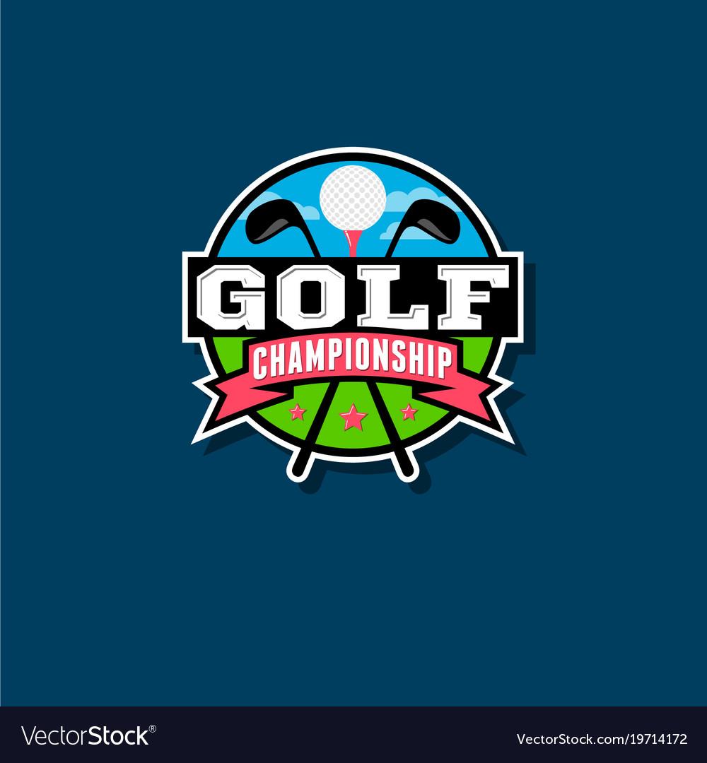 Championship golf emblem golf club logo