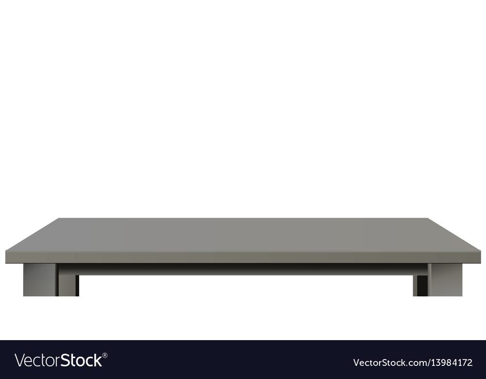 Dark wooden or plastic black tabletop vector image
