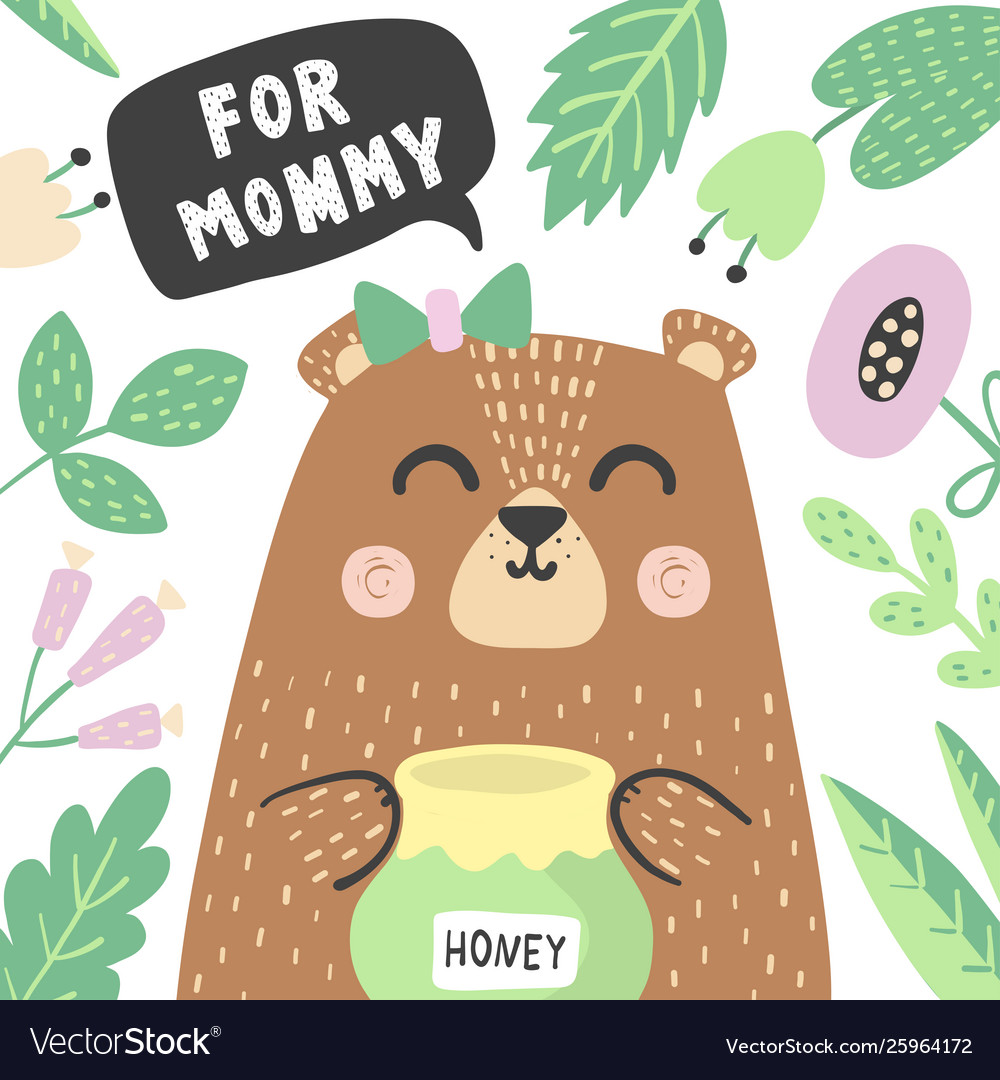 For mommy print with super cute babear