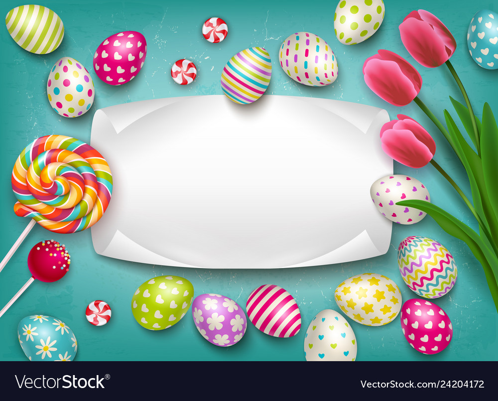 Greeting card easter composition
