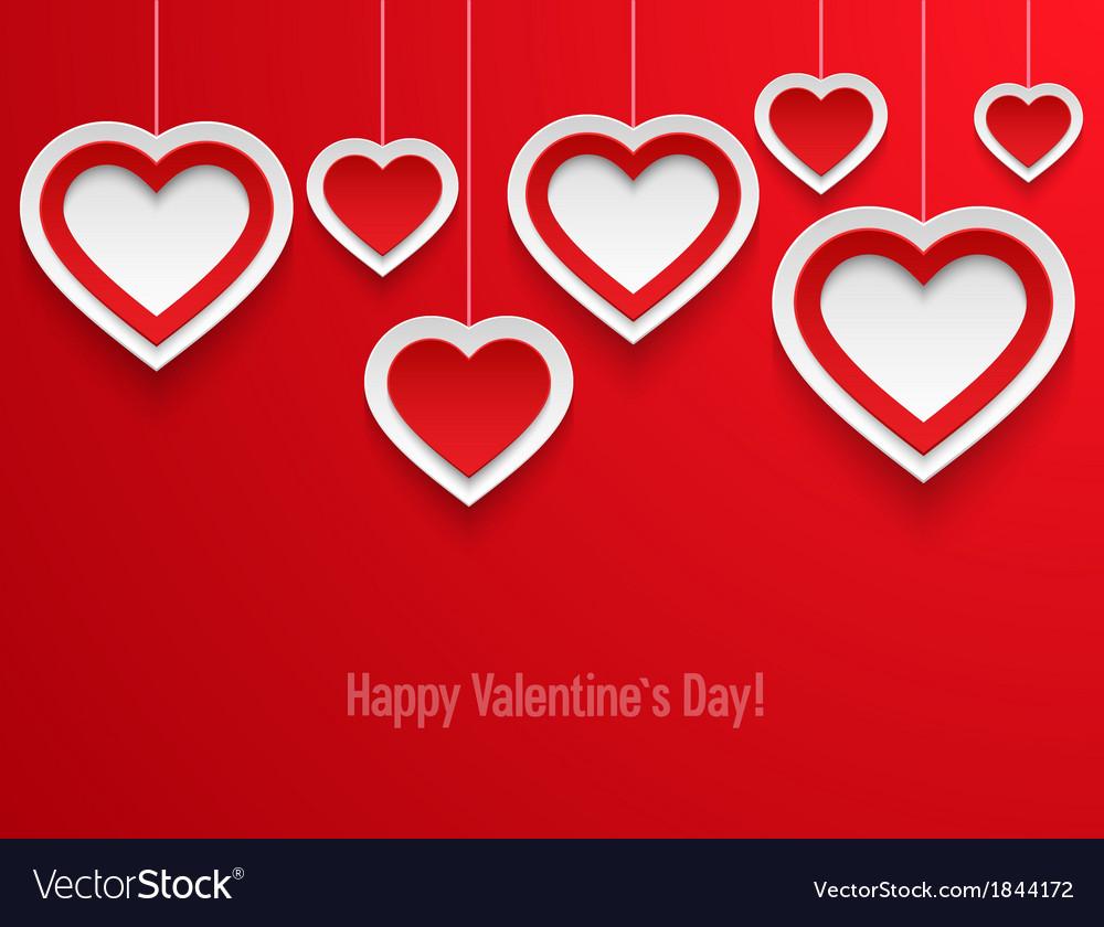 Hanging valentines hearts
