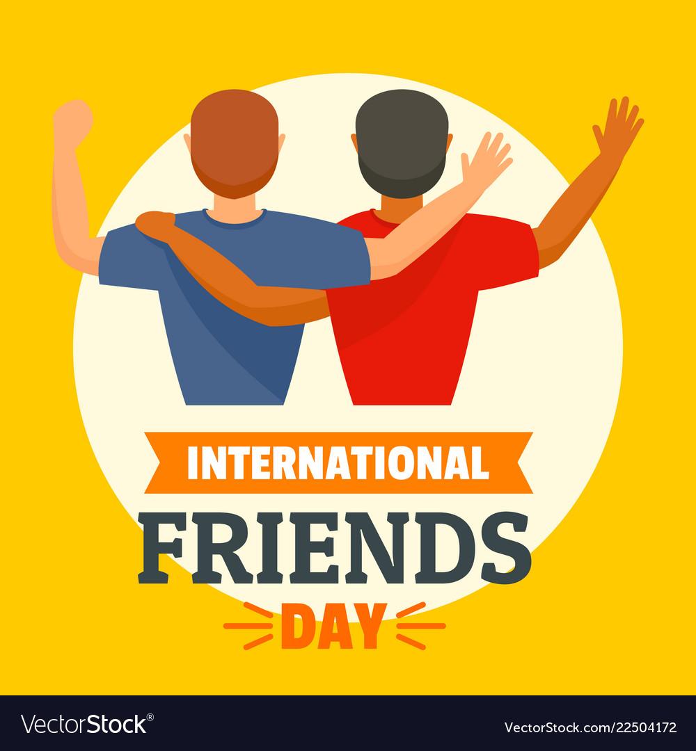 International friends day concept background flat