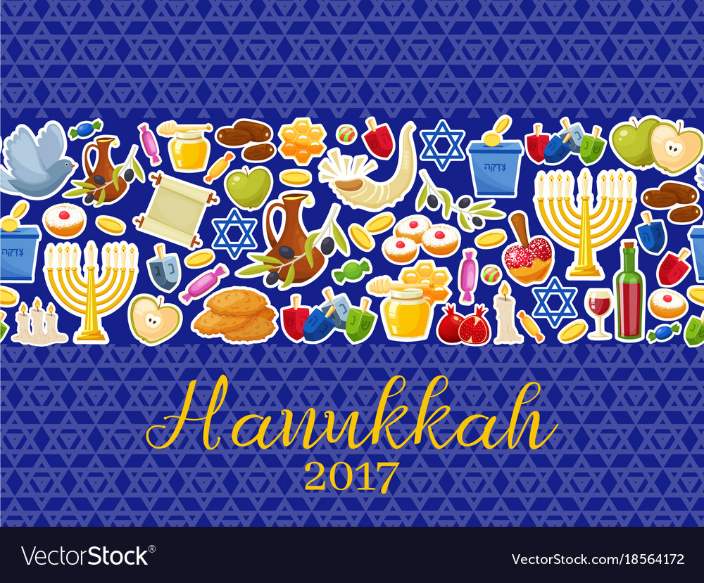 Jewish holiday hanukkah banners set