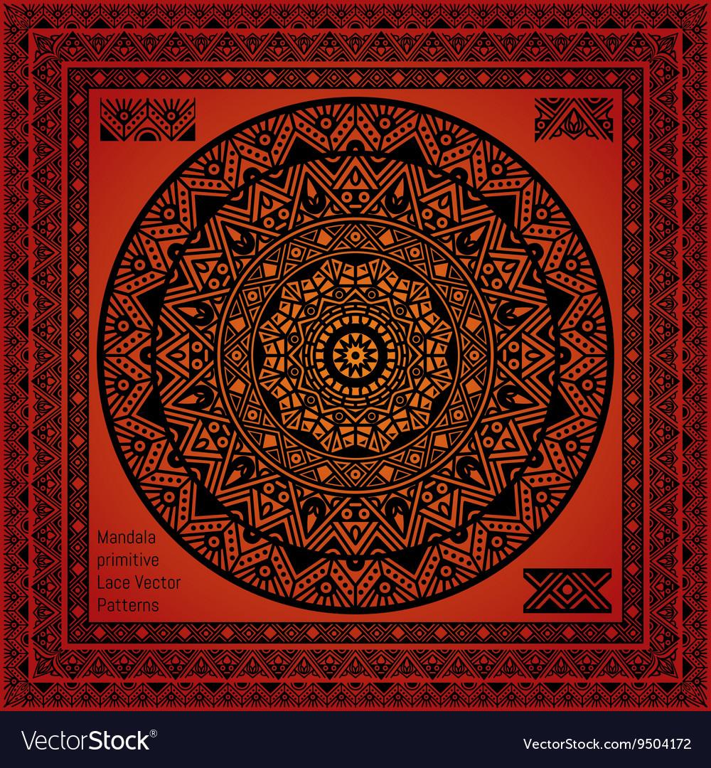 Mandala Hindu Symbol Royalty Free Vector Image