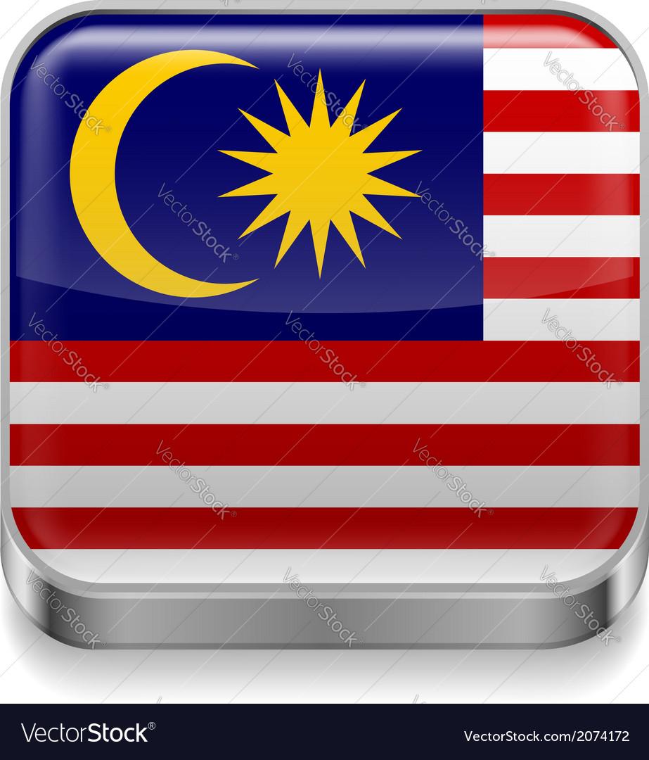 Metal icon of Malaysia
