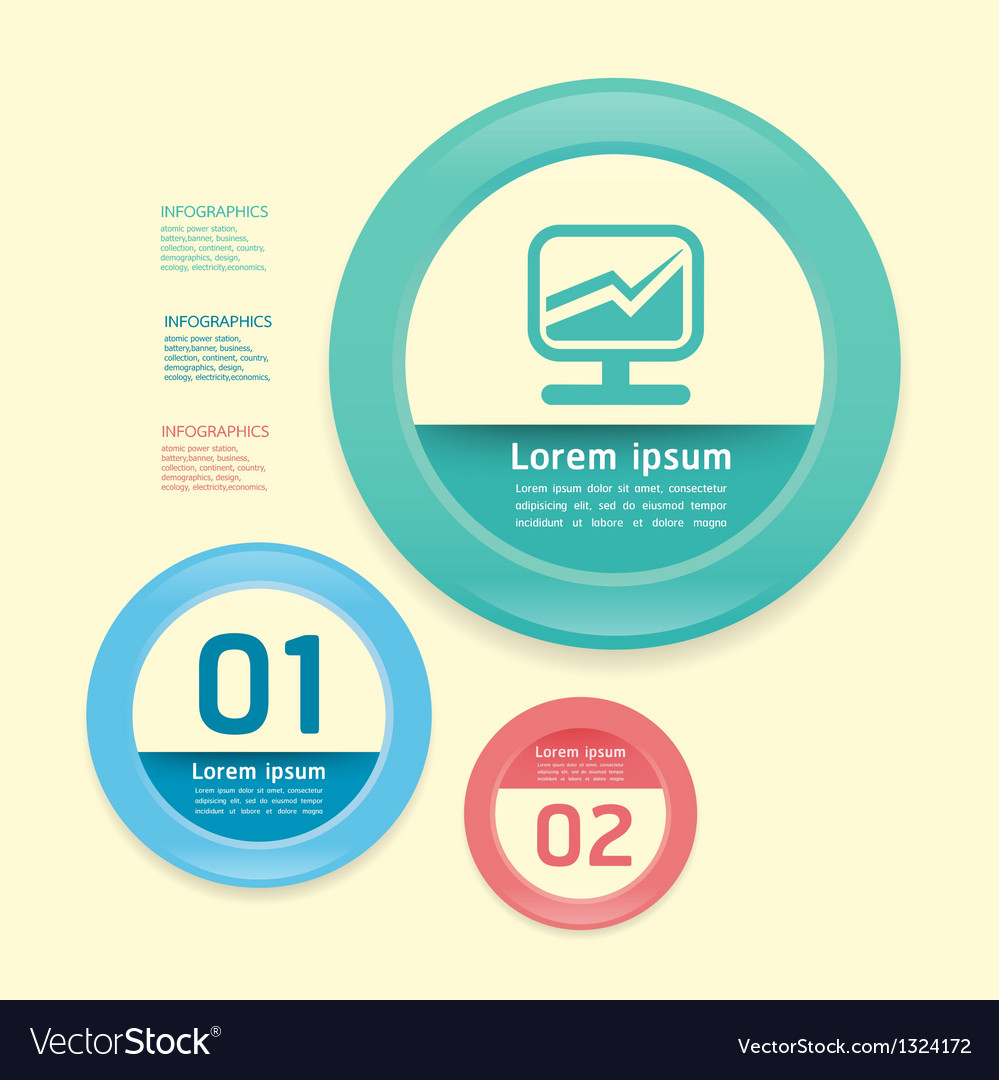 Modern Design circle soft colour template