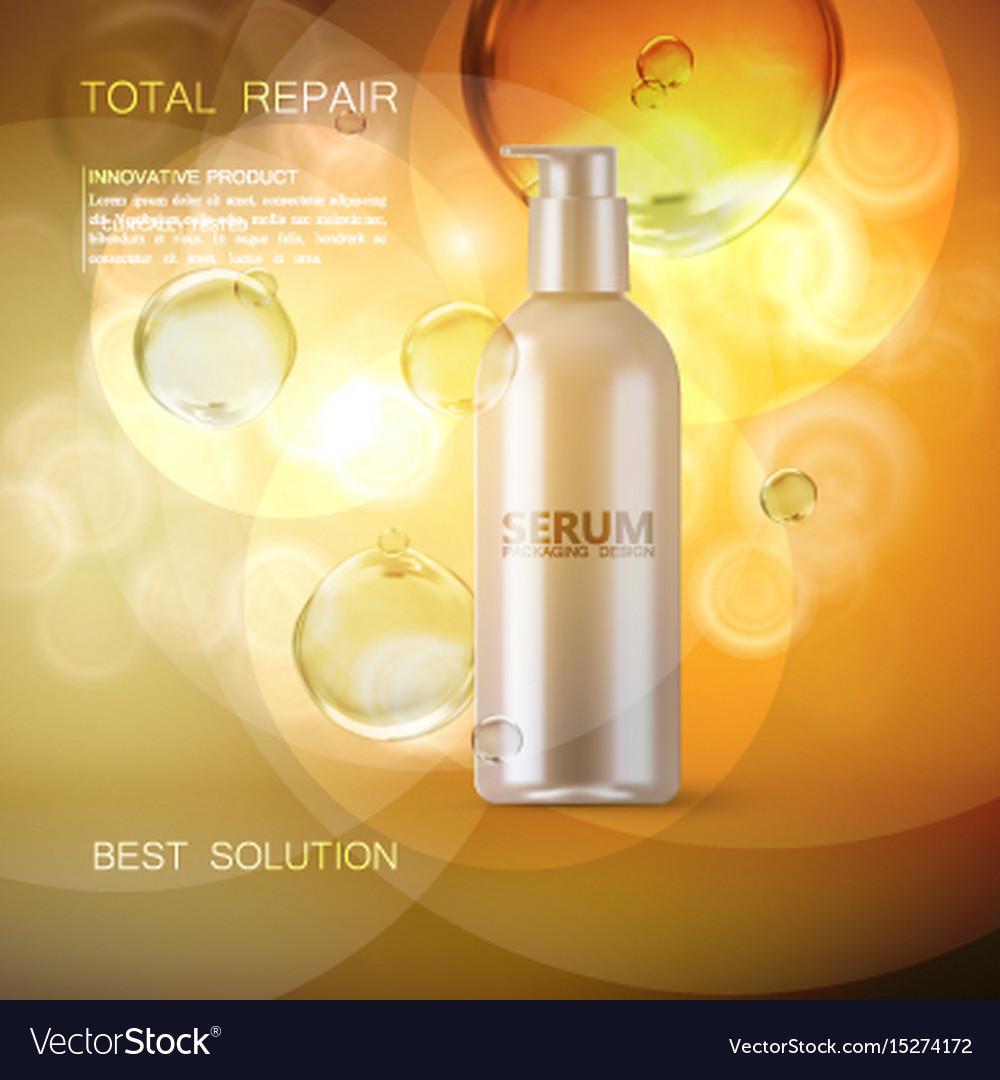 Moisturizing serum ads poster template vector image
