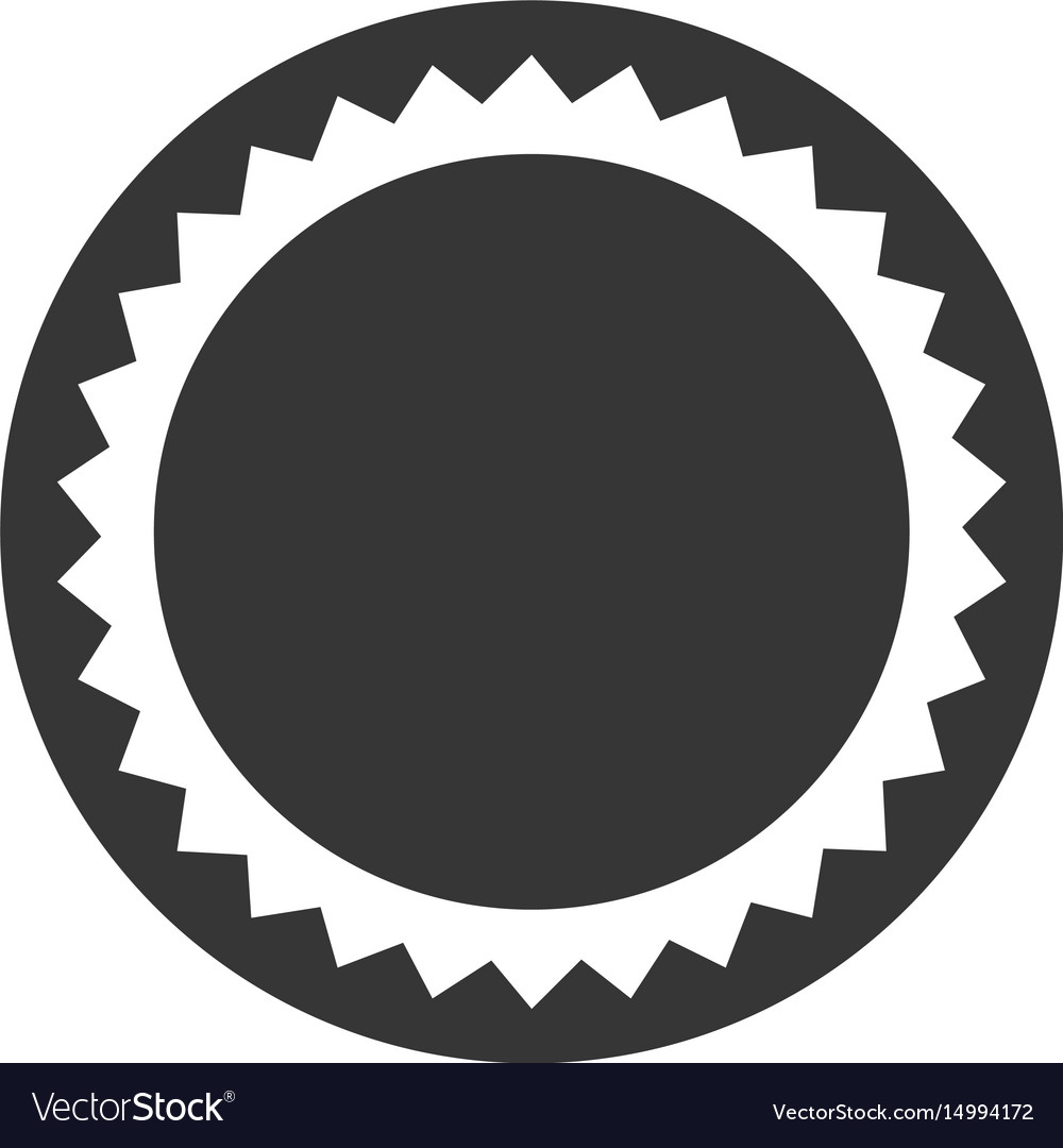 Round seal template flat icon vector image