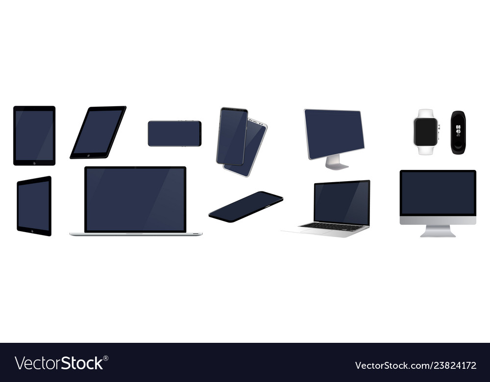 Set mock-up of realistic devices