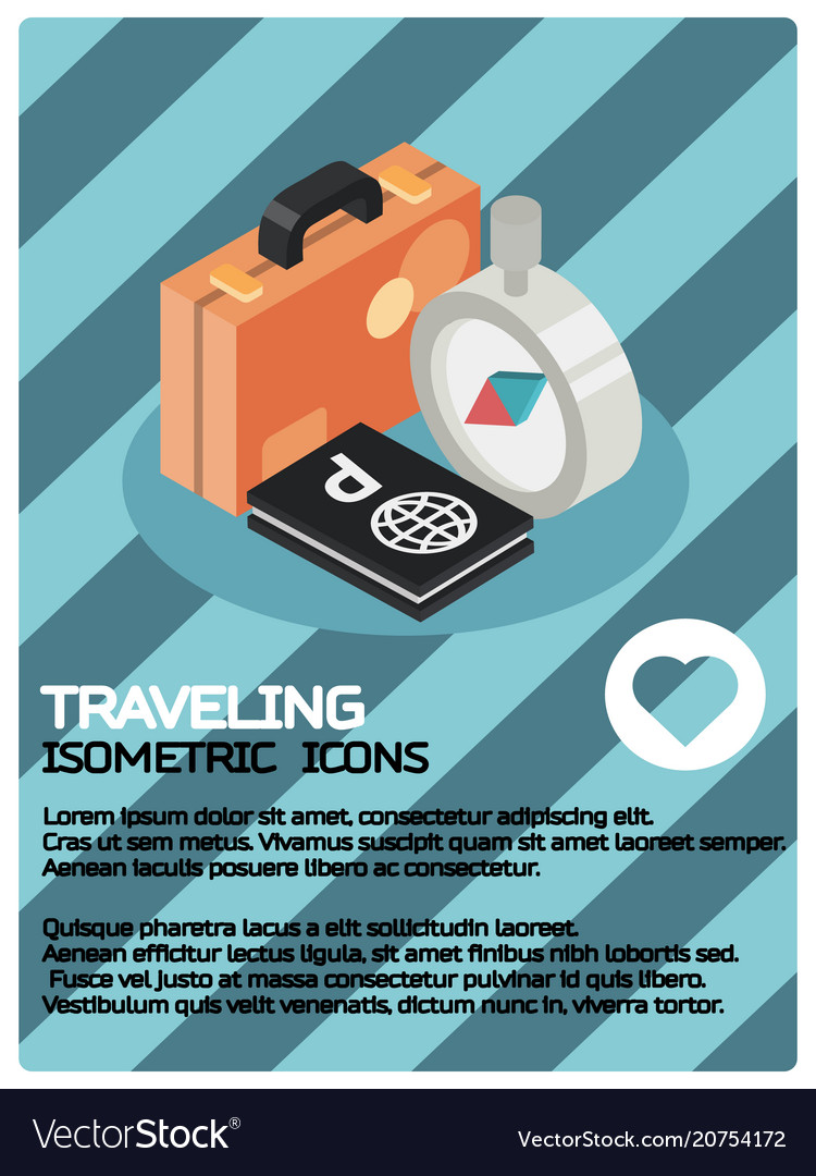 Traveling color isometric poster
