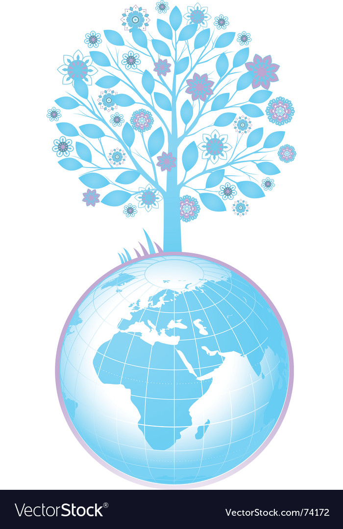 Tree and globe
