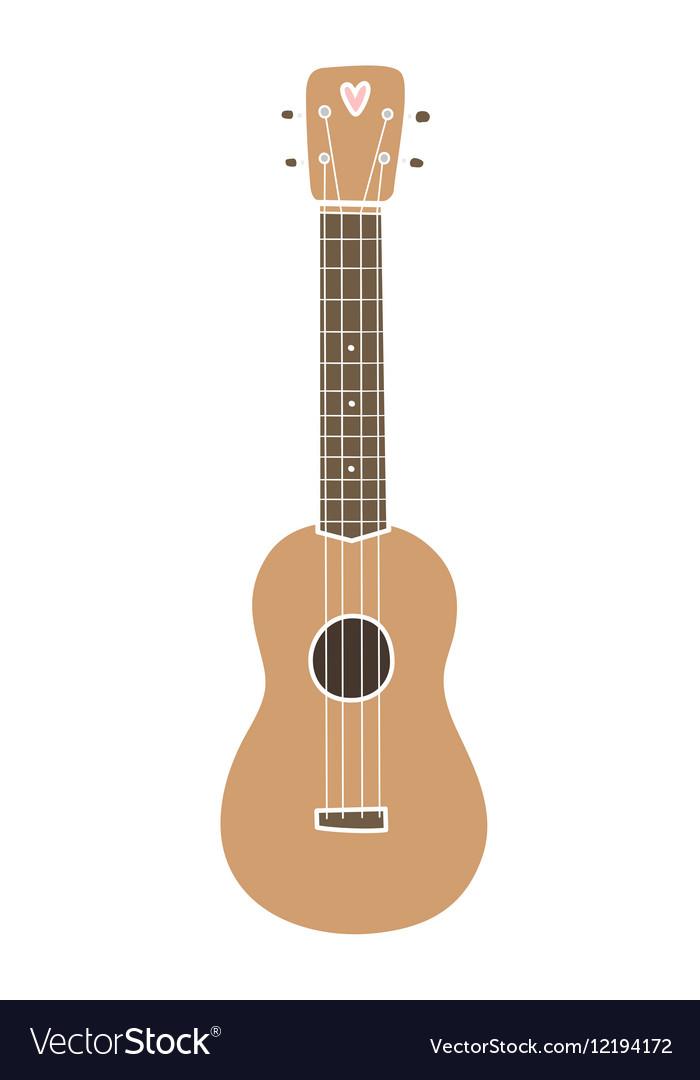 Ukulele hawaiian guitar Isolated on white vector image