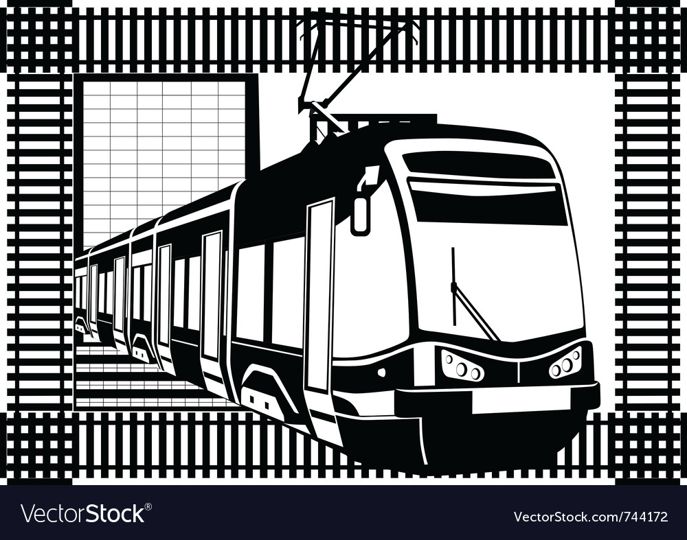 Urban electric vector image