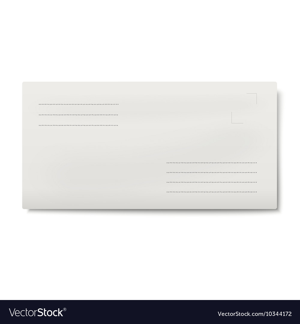 White DL envelope isolated vector image