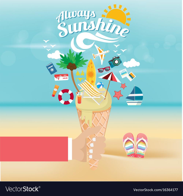 Away summer vector image