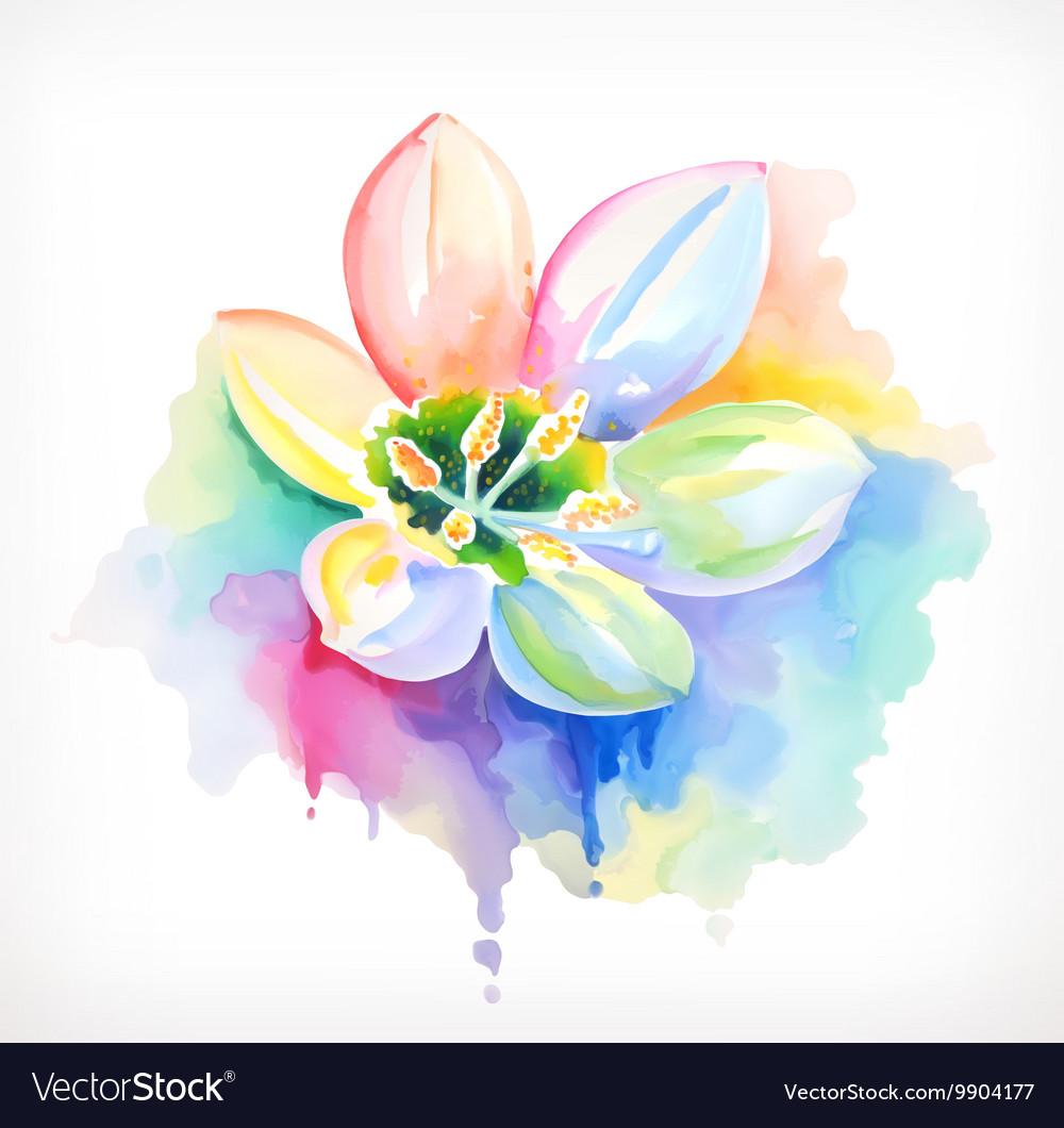 Beautiful flower watercolor painting mesh vector image izmirmasajfo