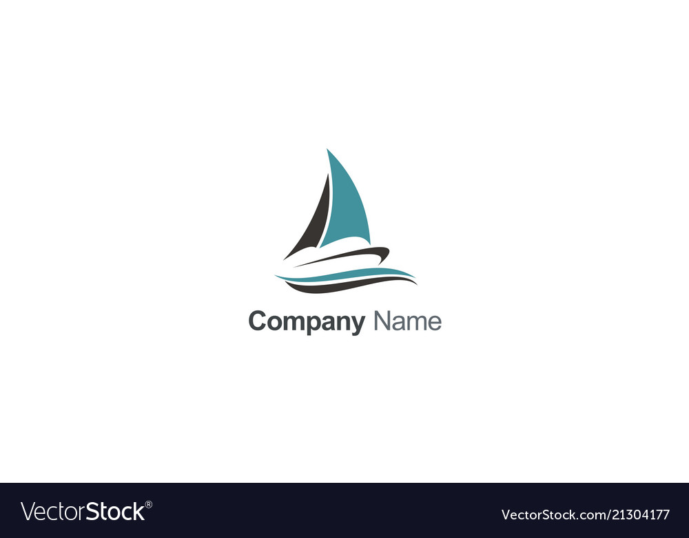 Boat sail travel company logo