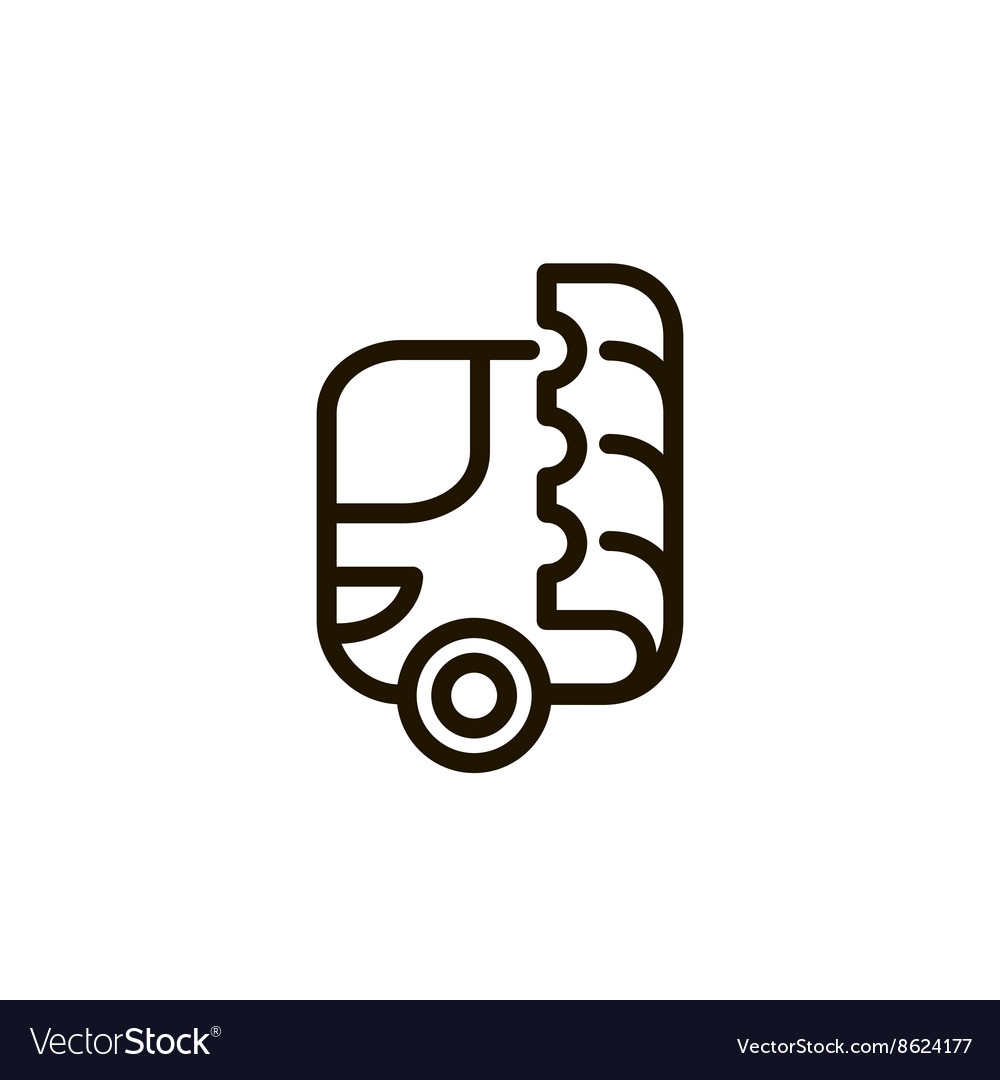 Bus and ticket logo vector image