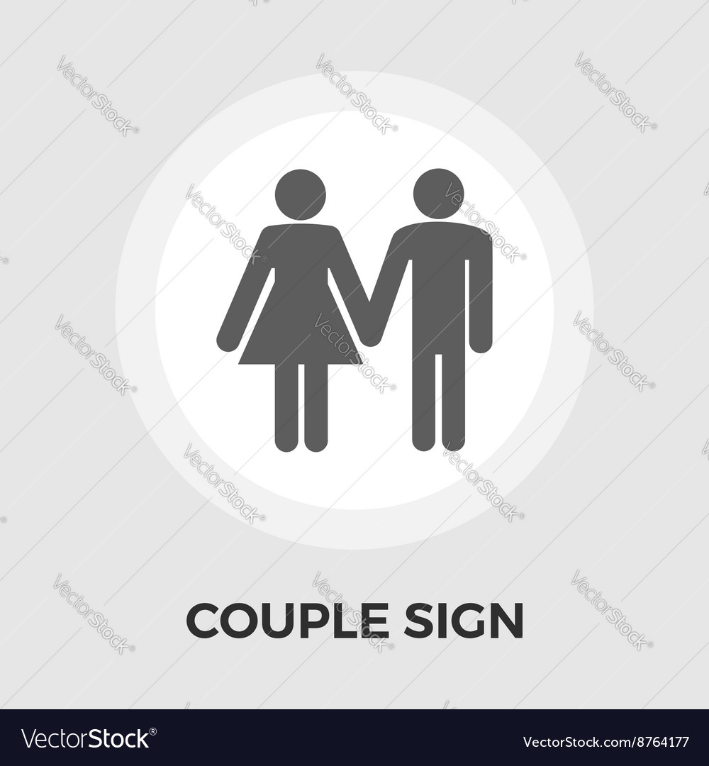Couple sign Flat Icon