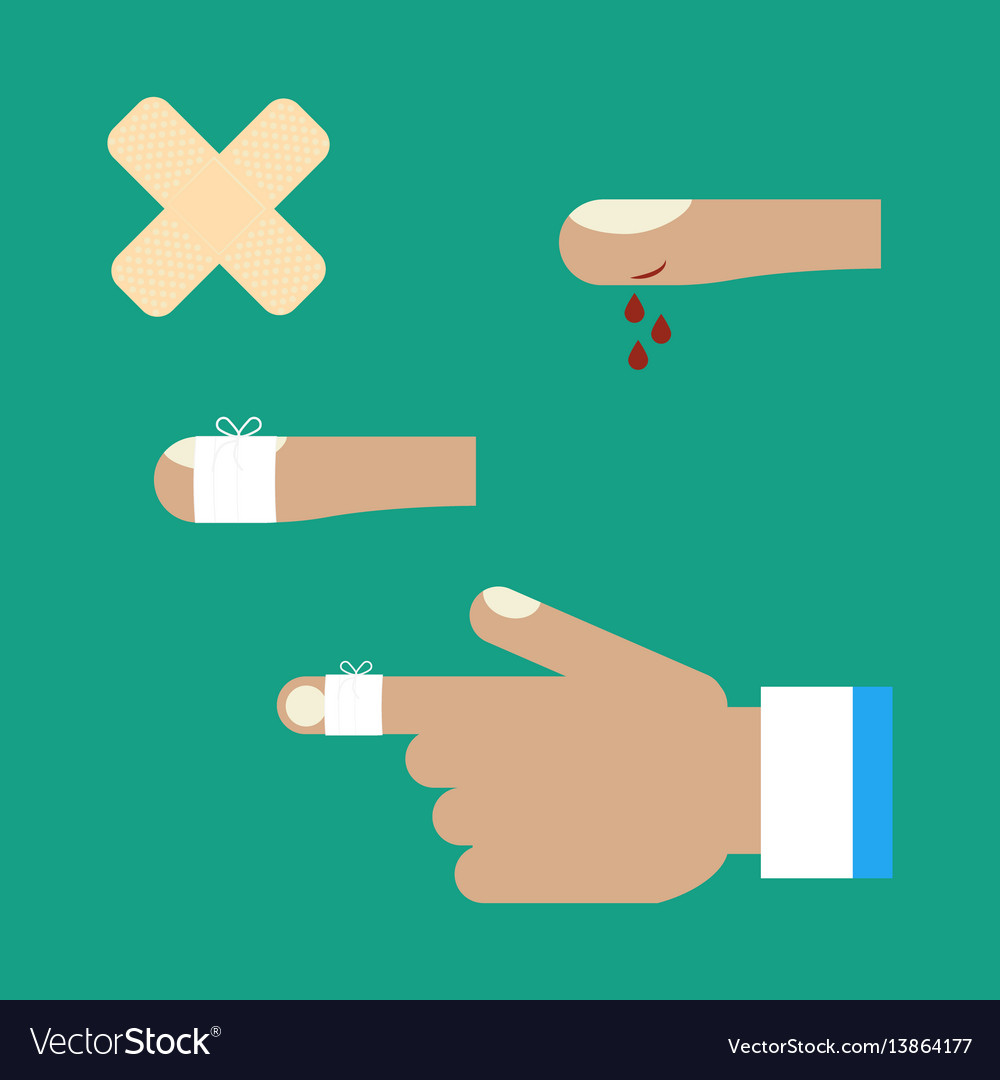 First aid for a cut vector image