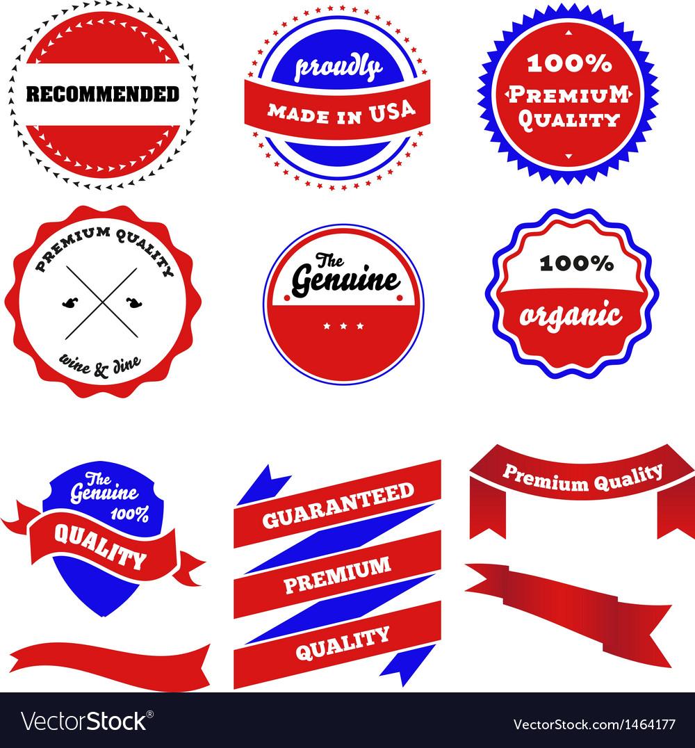 Set of badges labels and ribbon