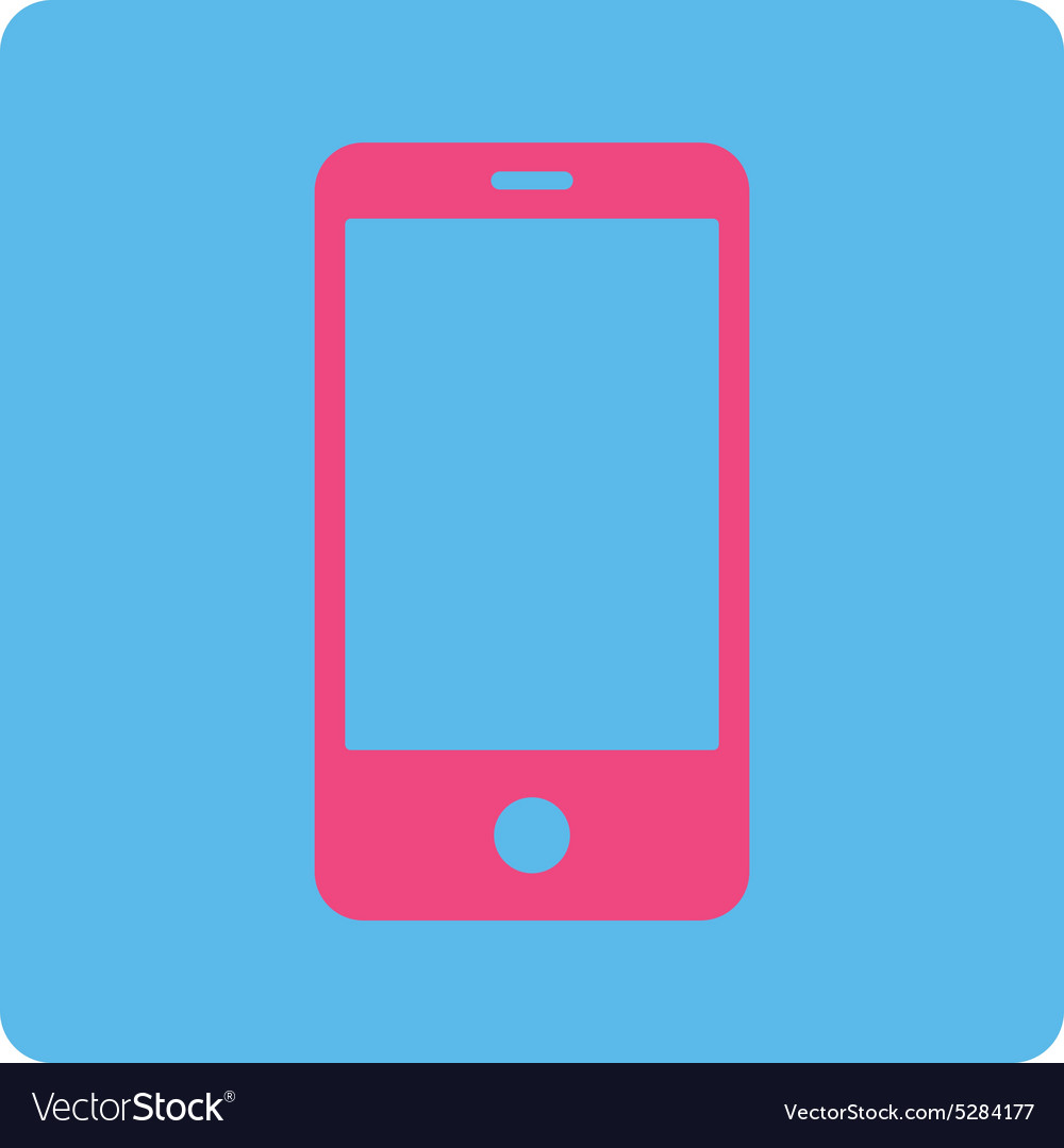 Smartphone flat pink and blue colors rounded