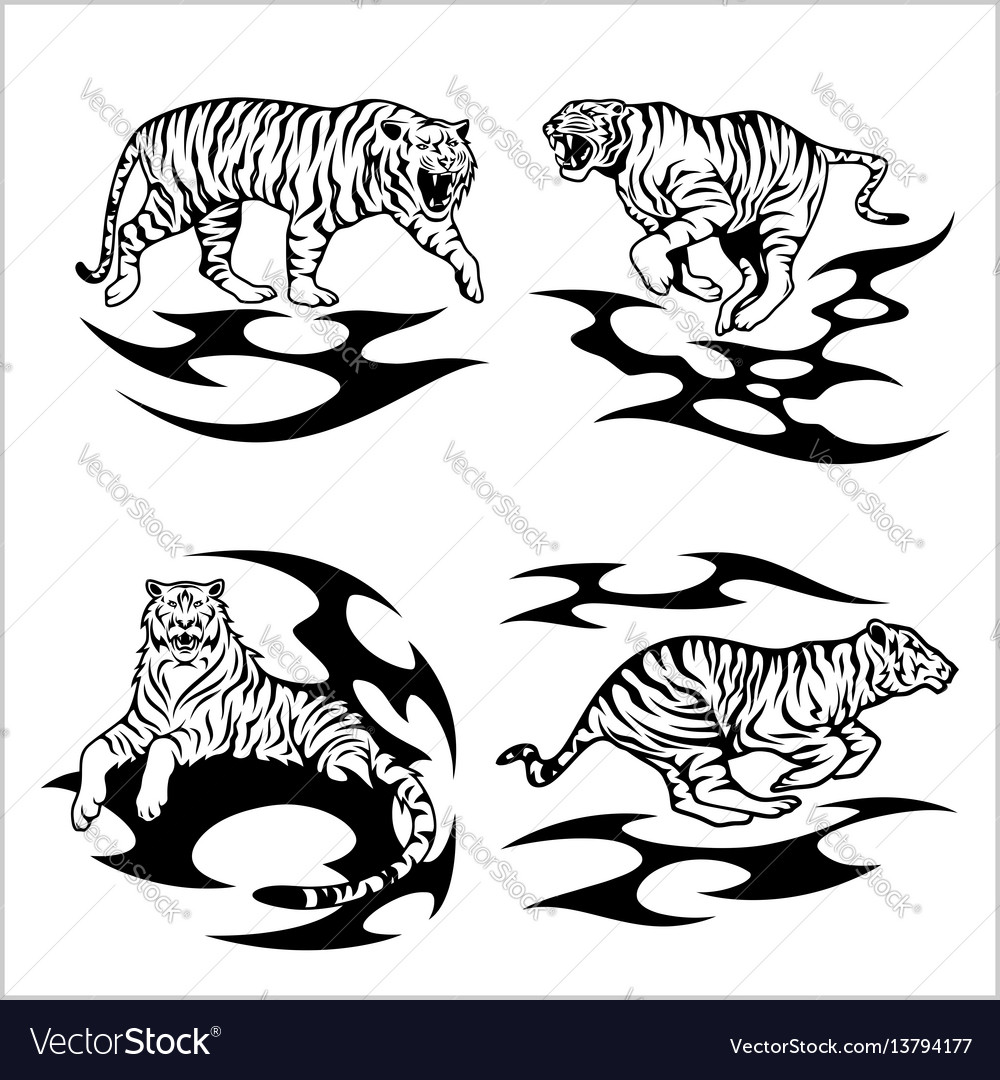 Tribal tigers - set