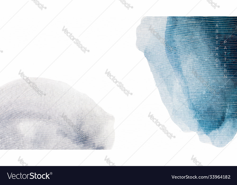 Abstract art background with blue watercolor
