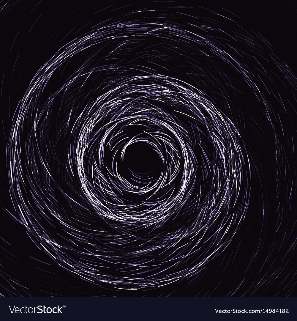 Abstract vintage black ink spiral texture and vector image