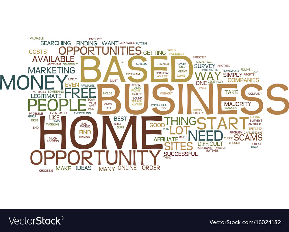Find a free home based business opportunity text vector image on VectorStock