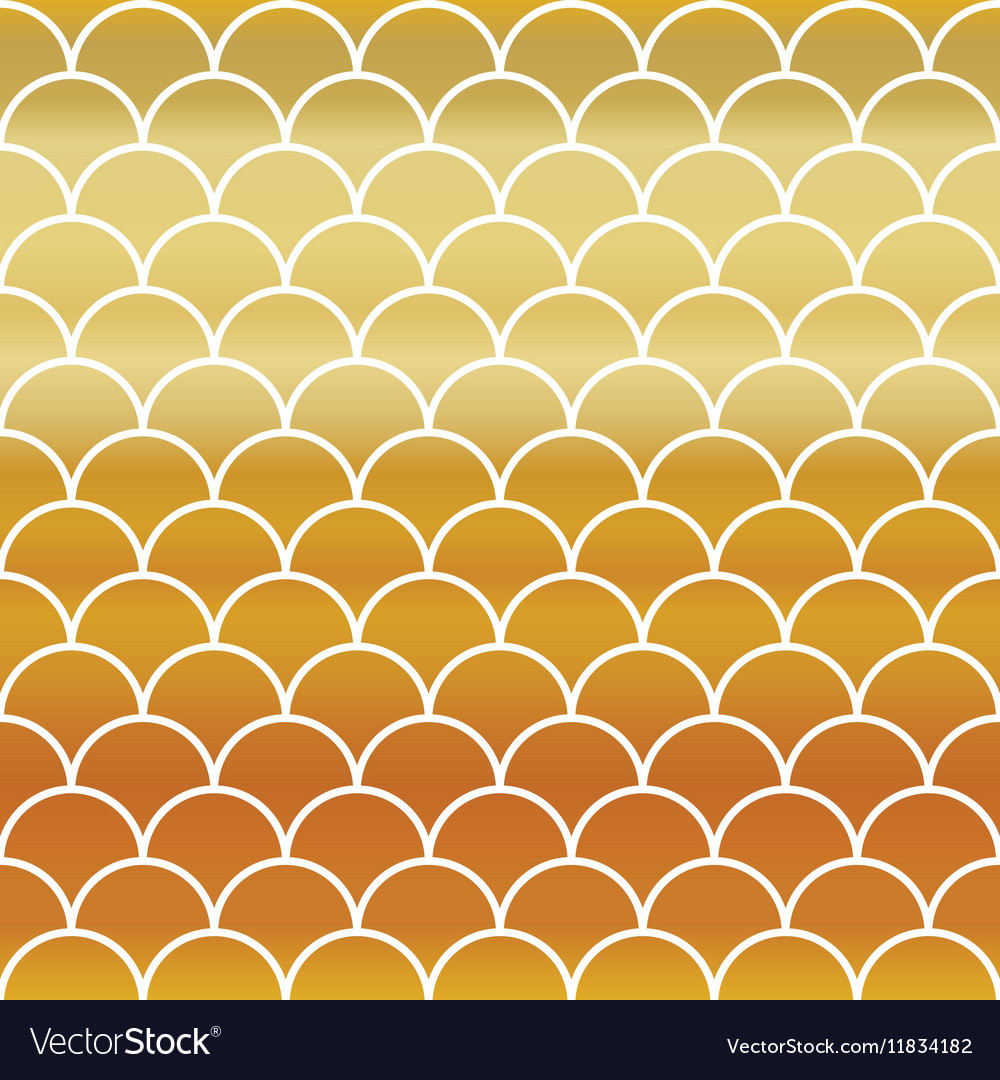 Fish Gold Scales Seamless Pattern