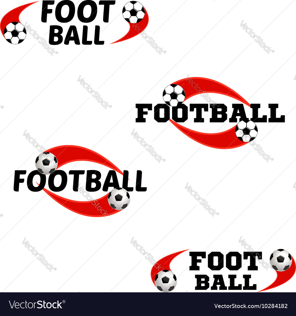 Football logo for the team and the cup