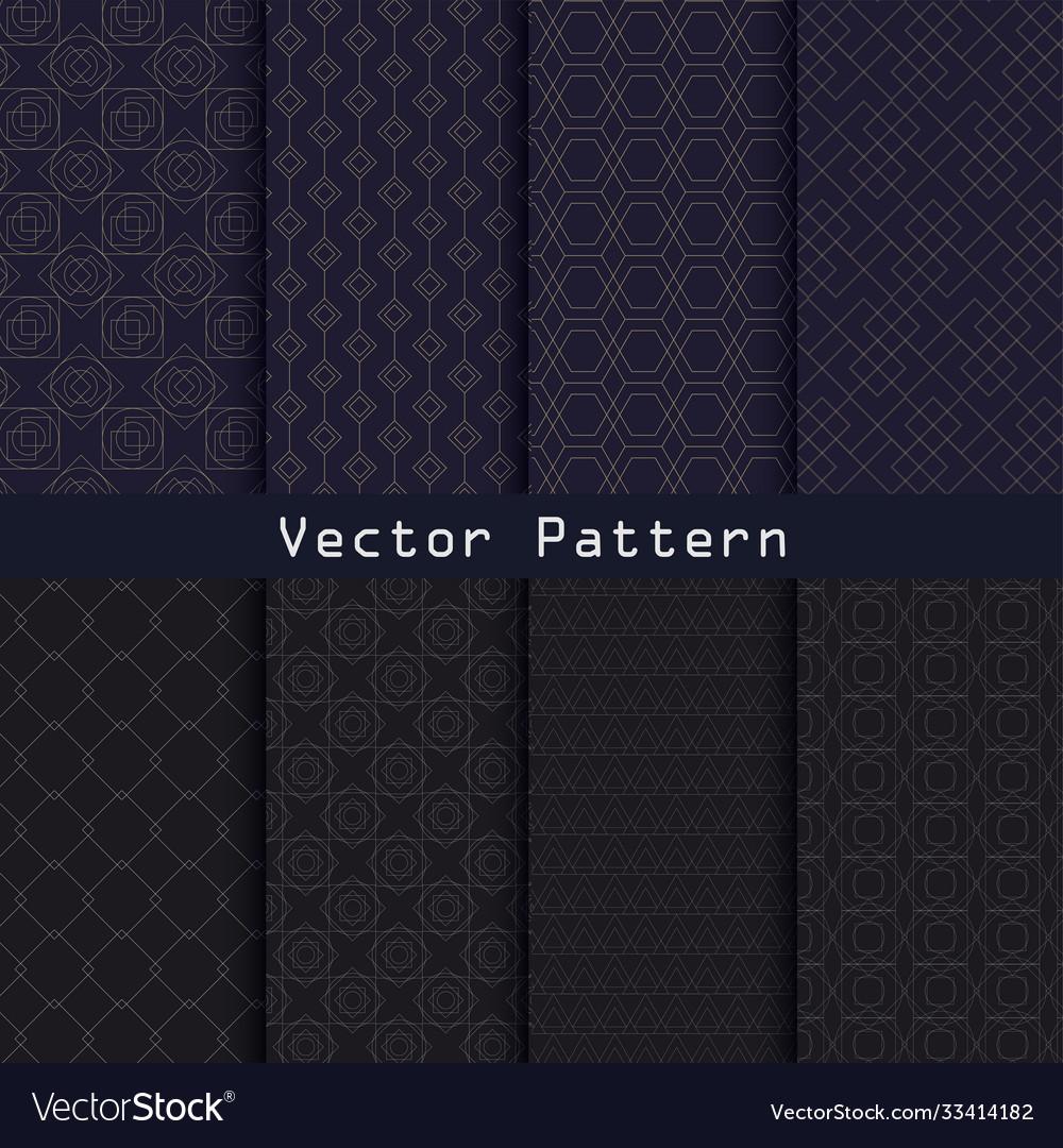 Geometric luxury pattern collection design