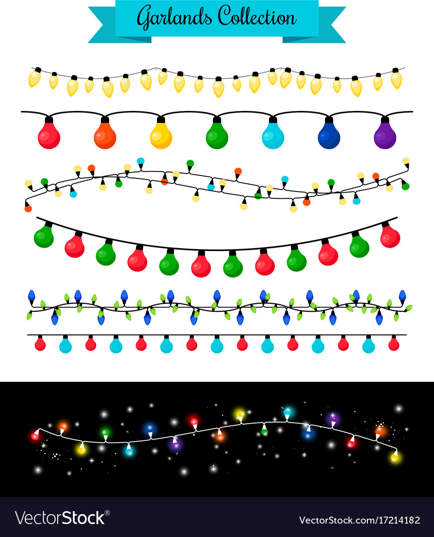 Light decoration christmas bulb garlands