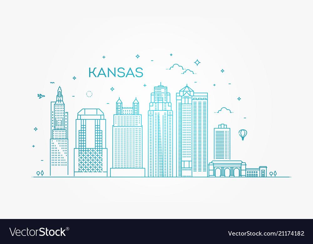 Minimal kansas linear city skyline