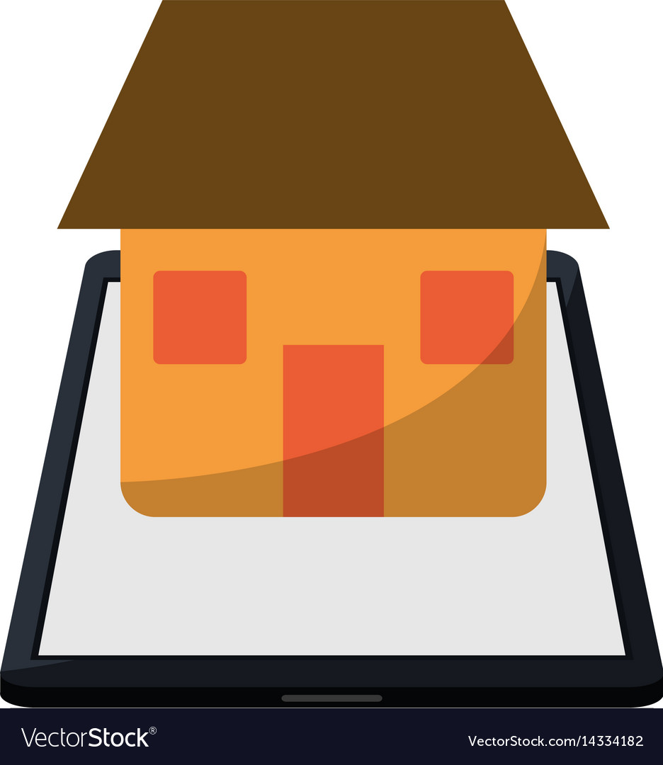 Real estate smartphone app design vector image