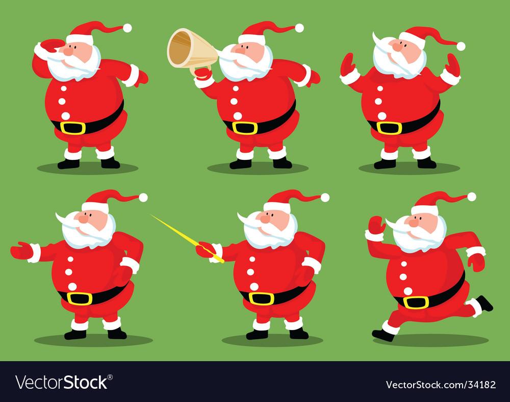 Santa's collection vector image