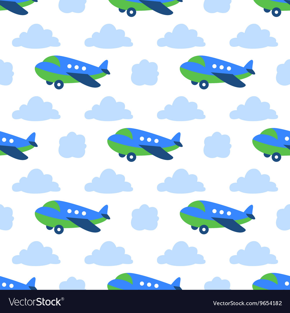 Seamless planes pattern
