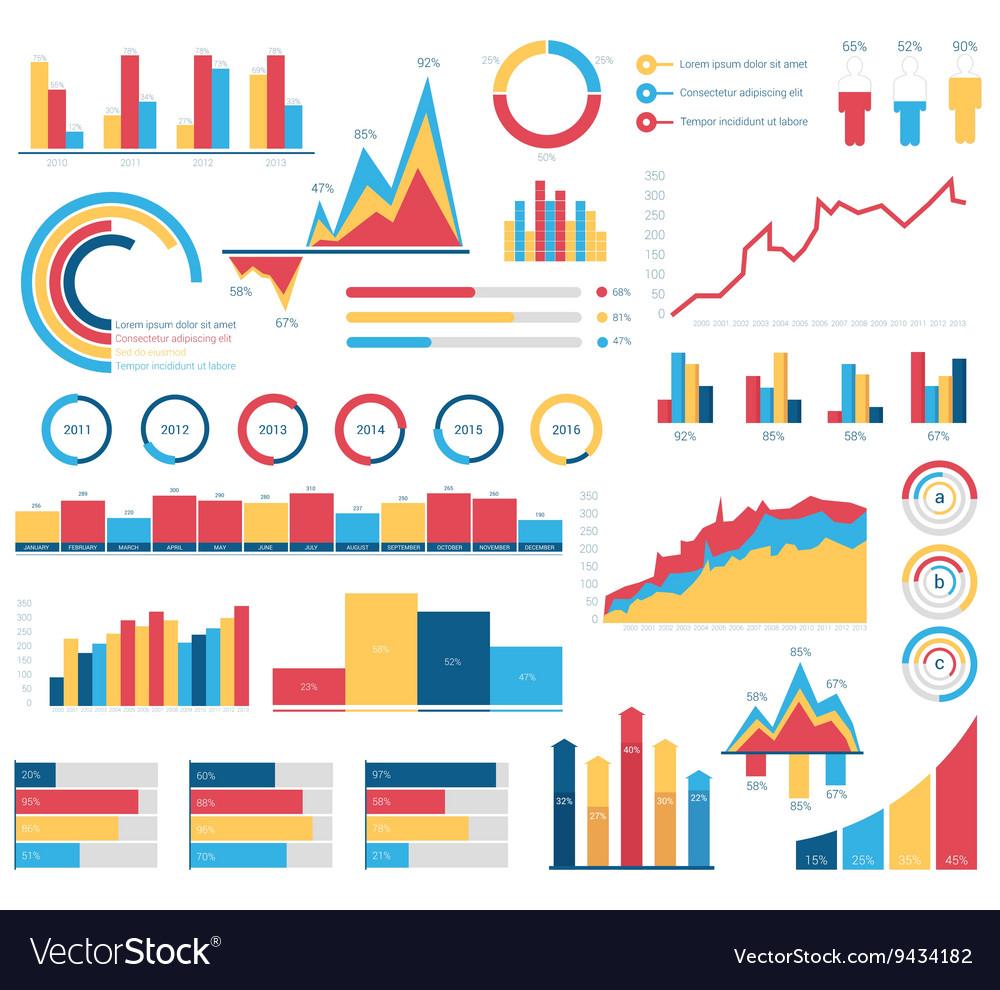 Set for infographics various design elements