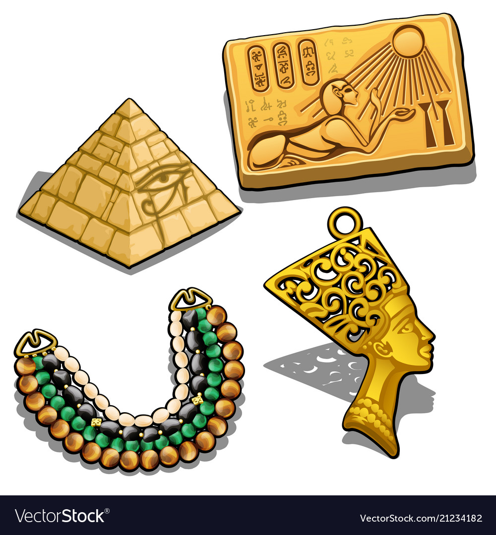 Set of attributes and jewelry on the theme of