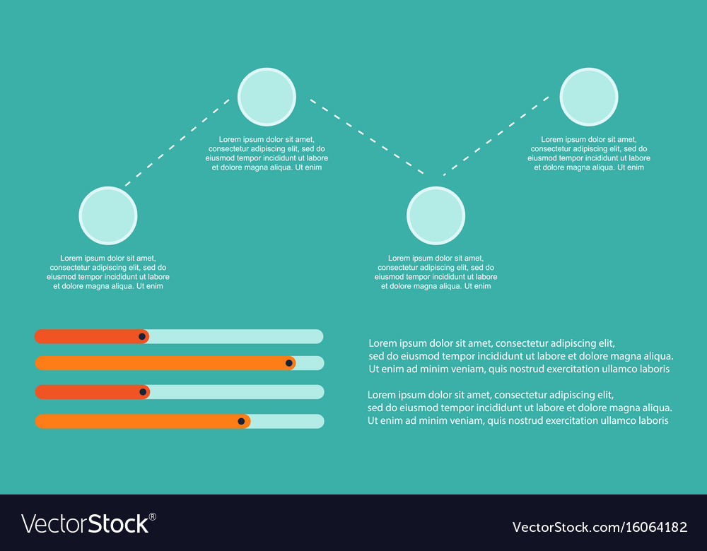 Step and graph business infographic background