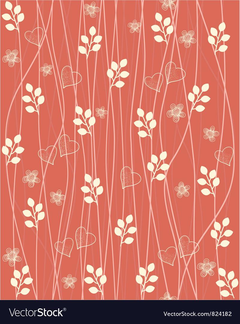 Valentines Foliage Pattern