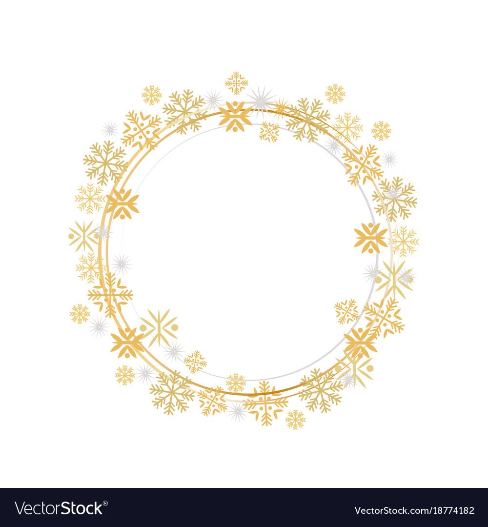 Winter decorative frame frothen element vector image