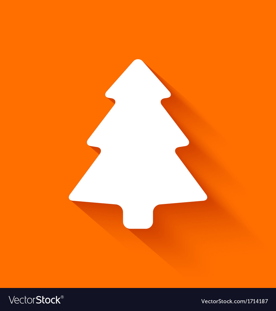 Abstract christmas tree on orange background