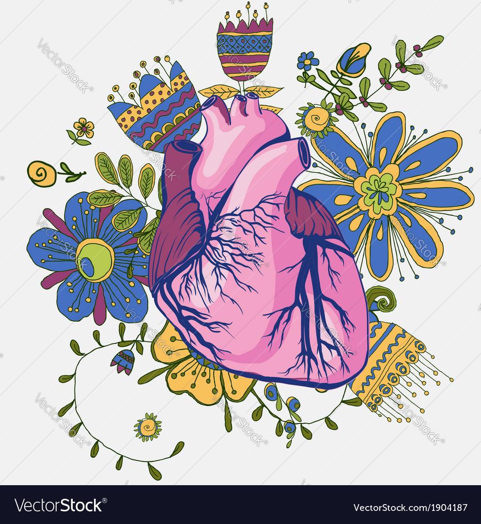 Abstract Human Heart Sketch