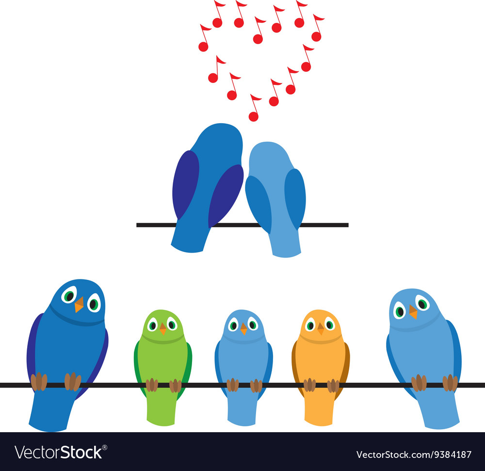 Birds adults and children vector image