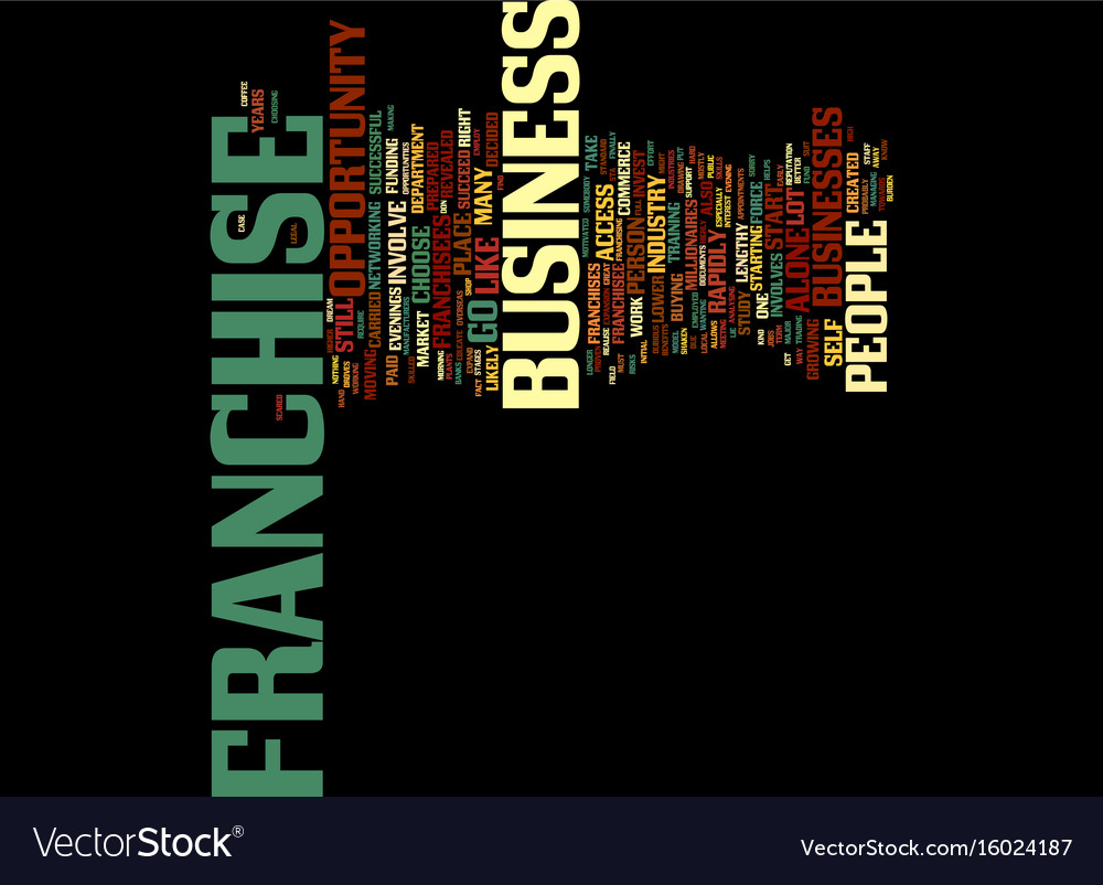 Find a great franchise opportunity text vector image