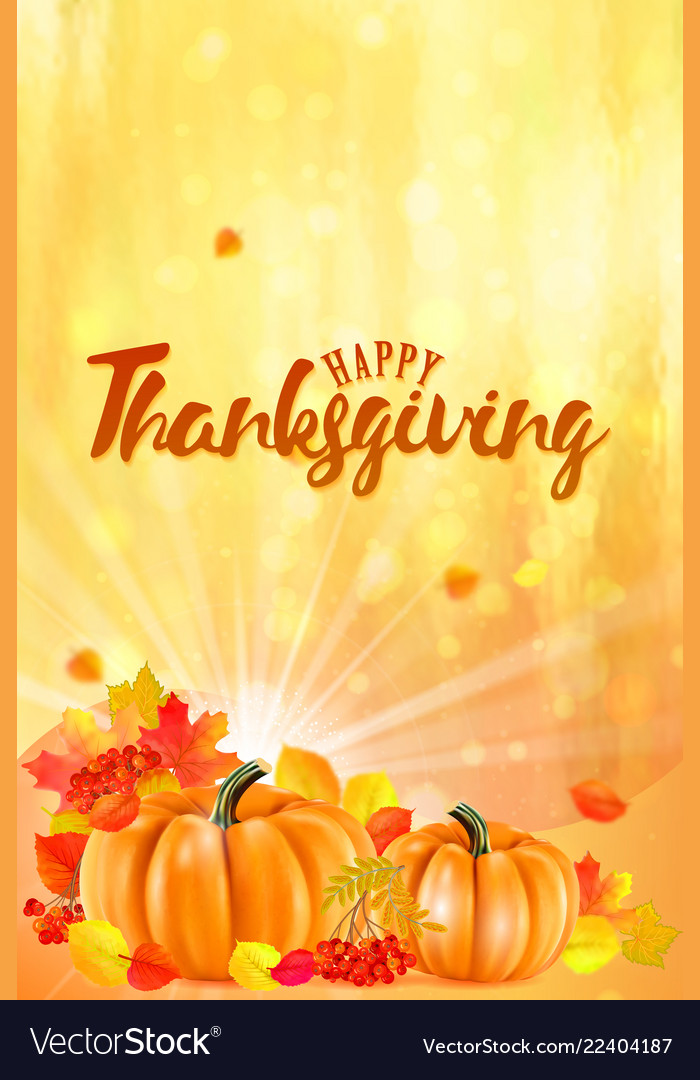 Happy thanksgiving background with autumn
