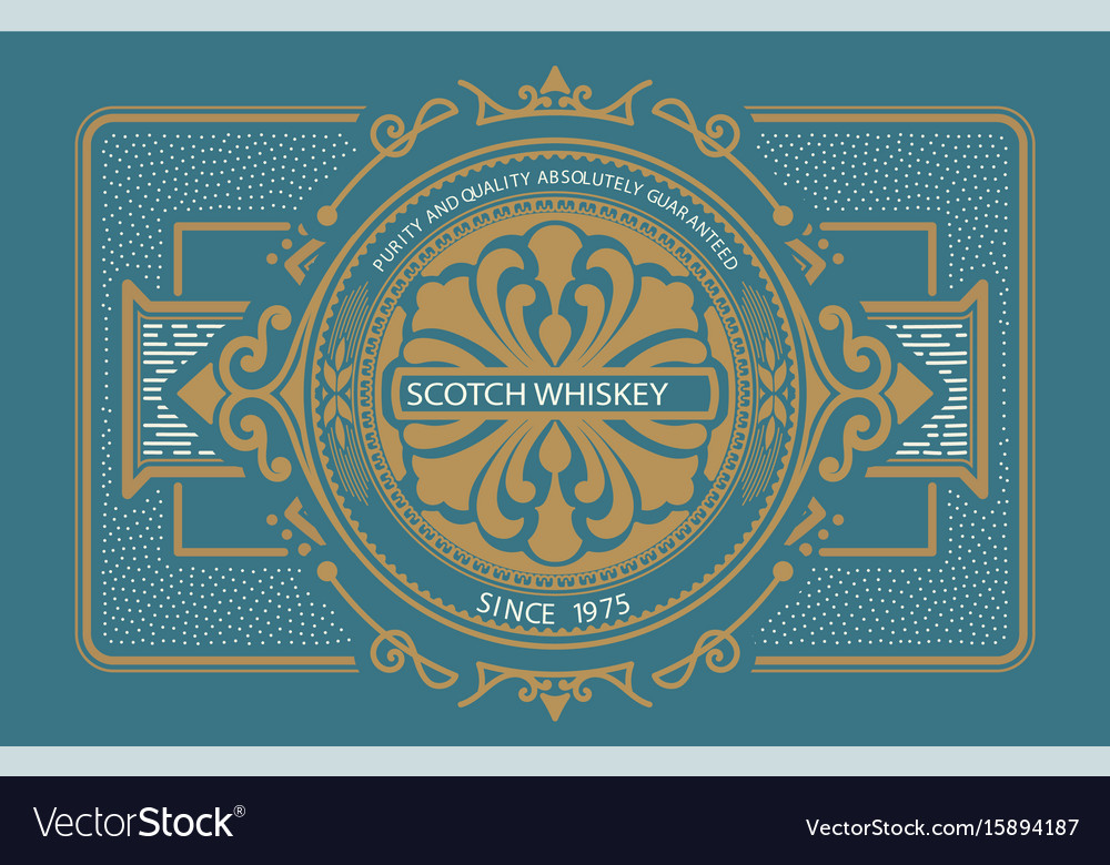 Liquor label western style vector image