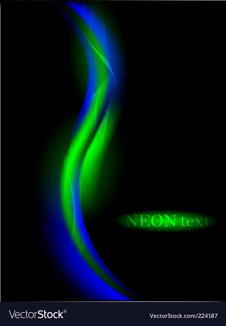 Neon abstract vector image